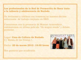 Los profesionales de la Red de Promoción de Buen trato a la infancia y adolescencia de Burlada