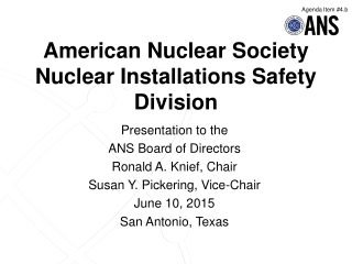 International Nuclear Safeguards  INMM Tutorial