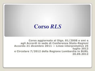 Corso  RLS