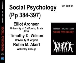 Social Psychology (Pp 384-397)