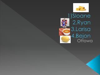 1)Sloane 2.Ryan 3.Larisa 4.Bejon