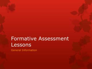 Formative Assessment Lessons