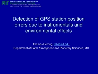 Environmental loading effects on GPS time series