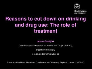 Reasons to cut down on drinking and drug use: The role of treatment