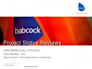 Project Status Reviews