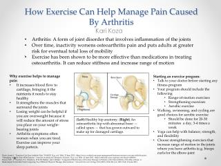 How Exercise Can Help Manage Pain Caused By Arthritis