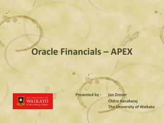 Oracle Financials – APEX