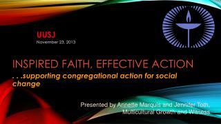 Inspired Faith, Effective  Action