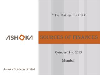 � The Making of  a CFO�