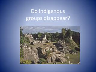 Do indigenous  groups  disappear?