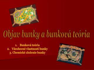 Objav bunky a bunková teória