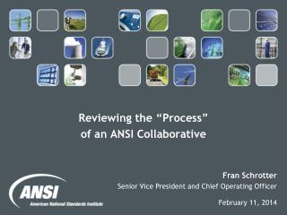 "Reviewing the ""Process""  of an ANSI Collaborative"