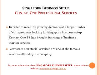 Singapore Business Setup