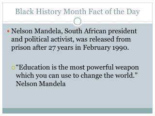 Black History Month Fact of the Day
