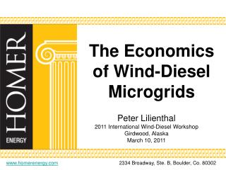 The Economics of Wind-Diesel Microgrids