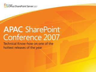 ARC08 SharePoint Collaboration and Community Tools: Tracking, Blogs, Wikis, and More