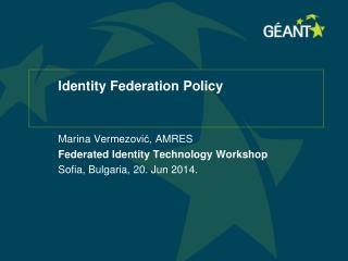 Identity  Federation  Policy