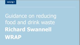Guidance on reducing food and drink waste