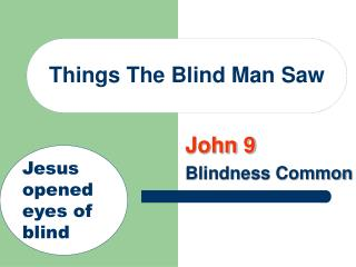 Things The Blind Man Saw