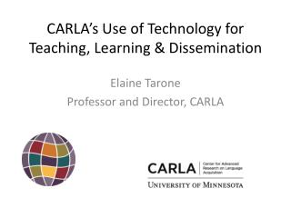 CARLA's Use of Technology for Teaching, Learning & Dissemination