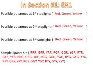 In Section #1: EX1
