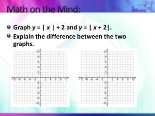 Math on the Mind: