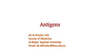 Immunogen vs Antigen