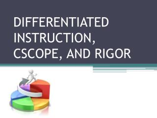 DIFFERENTIATED INSTRUCTION, CSCOPE, AND RIGOR