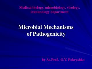 Medical biology, microbiology, virology, immunology department