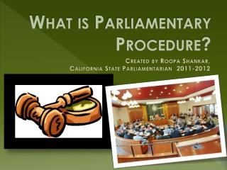 What is Parliamentary Procedure?