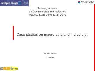Case studies on macro data and indicators: