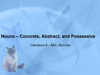 Nouns – Concrete, Abstract, and Possessive