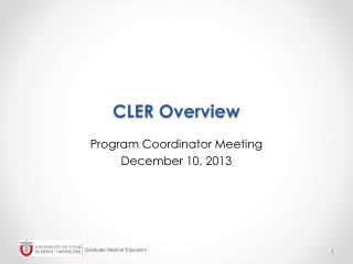 CLER Overview
