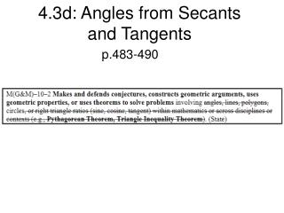 4.3d: Angles from Secants and Tangents