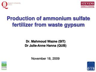Production of ammonium sulfate fertilizer from waste gypsum