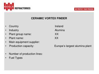 CERAMIC VORTEX FINDER  Country  Ireland