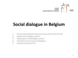 Social dialogue in Belgium