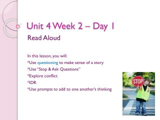 Unit 4 Week 2 – Day 1