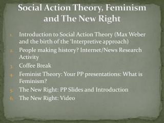 Social Action Theory, Feminism and The New Right