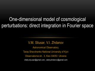 V.M.  Sliusar , V.I. Zhdanov Astronomical Observatory,