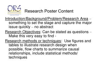 Research Poster Content