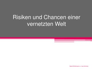 Risiken und Chancen einer vernetzten Welt