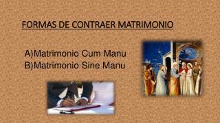 FORMAS DE CONTRAER MATRIMONIO