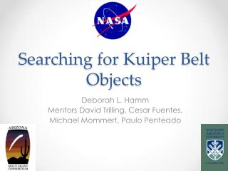 Searching for Kuiper Belt Objects