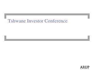 Tshwane Investor Conference