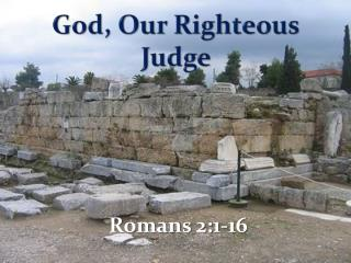 God, Our Righteous Judge