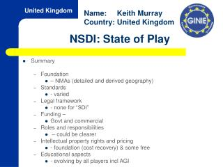 NSDI: State of Play