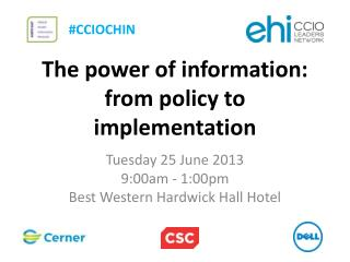 The power of  information: from  policy to implementation