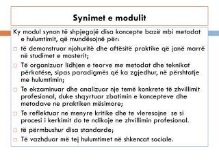 Synimet  e  modulit