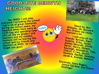 Good- Bye Berwyn  Heights!